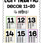 Ten Frame Decor 11-20 {6 polka dot colors}