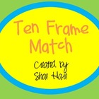 Ten Frame Match - Flash cards - Common Core Math