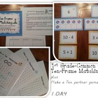 Ten Frame Matching Game - Common Core 1st Grade