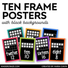 Ten Frame Number Cards 0-20 {Black Series}