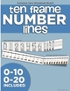 Ten Frame Number Lines (0-20)