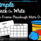 Ten Frame Playdoh Mats