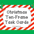 Ten Frame Task Cards: Christmas Edition!