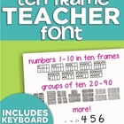 Ten Frame Teacher Font