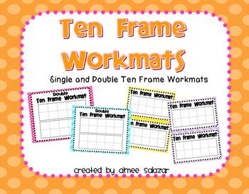 Ten Frame Workmats {FREEBIE}