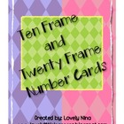 Ten Frame and Twenty Frame diamond patterned cards