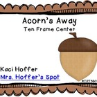 Ten Frames Acorn {Fall Center}