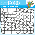 Ten Frames Color-In - Graphics From the Pond