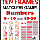 Ten-Frames Matching Games (Numbers 0-10 and 10-20)