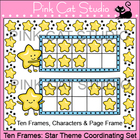 Ten Frames: Star Theme Coordinating Set Clip Art - Persona