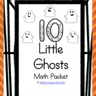 Ten Little Ghosts Math Pack