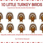 10 Little Turkey Birds Songs, Number Puzzles and 10 Props