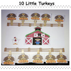 Ten Little Turkeys Activities and Song