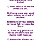 Ten Magnificent Math Rules