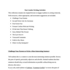 Ten Original Creative Writing Lesson Plans