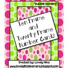 Ten and Twenty Frame bubble pattern cards