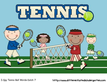Tennis Ball Words-Dolch Word List 7 Mastery Aligned to Com