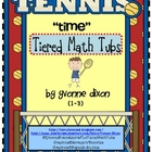 Tennis Time Tiered Math Tub