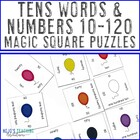 Tens (10-120) Words & Numbers Magic Square