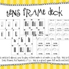 Tens Frame Deck of Cards