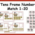 Tens Frame Number Match 1-20 Math Center - pirate theme
