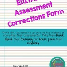 Test Corrections Form (3 versions)