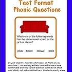Test Format Phonics Questions