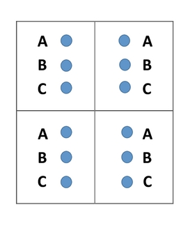 Test Prep Practice Multiple Choice Signal Pinch Card