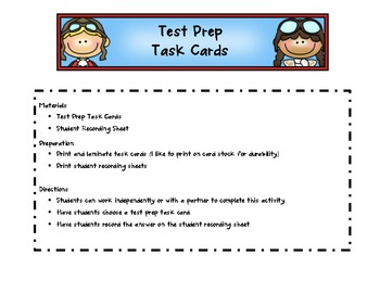 Test Prep Task Cards 3