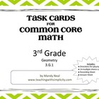Test Prep Task Cards for 3rd Grade Common Core Math (CCSS 3.G.1)
