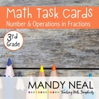 Test Prep Task Cards for 3rd Grade Common Core Math *Inclu