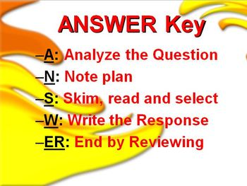 Test Taking Reading Strategies Powerpoint