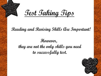 Test Taking Tips - Orange and Black