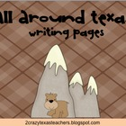 Texas Landforms Writing Packet