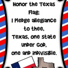 Texas Pledge Poster