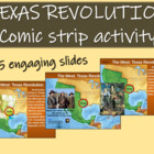 Texas Revolution Comic Strip Activity