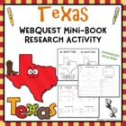 Texas Web Quest Mini Book Research Activity