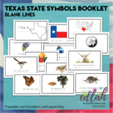 Texas State Symbols Booklet- Blank Lines