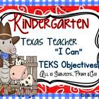"Texas Teacher TEKS Objective ""I Can"" Statement Printables!"