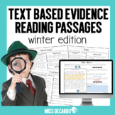 Text Evidence Reading Passages! {WINTER Edition}