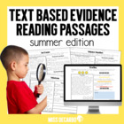 Text Evidence Reading Passages! {SUMMER Edition}