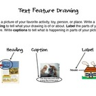 Text Feature Drawing (Writing Center) CCSS.ELA-Literacy.RL.1.5