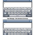 Text Message - One Sentence Summmary