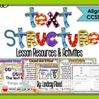 Text Structure Posters &amp; Lesson Resources