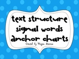 Text Structure Signal Words Anchor Charts
