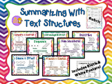 Text Structures Posters, Plans, and Rubric for Summarizing