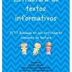 Non Fiction Text Structures in Spanish / Estructura de tex