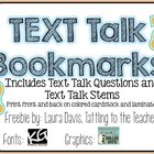 Text Talk Bookmarks {freebie}