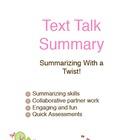 Text Talk Summary Unit