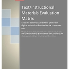 Text or Instructional Materials Evaluation Matrix